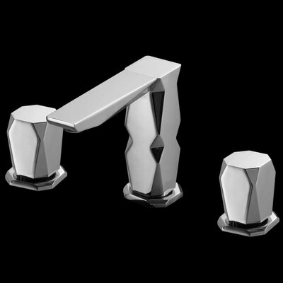Ikon 3 Hole Luxury Double Handle Widespread Bathroom Faucet Finish: Polished Chrome