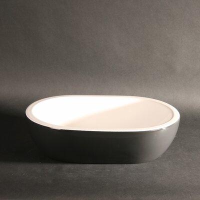 Midas Oval Vessel Bathroom Sink Sink Finish: Anthracite Grey/White