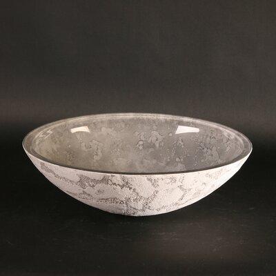 Atelier Luna Dual Textured Oval Vessel Bathroom Sink Sink Finish: Gray