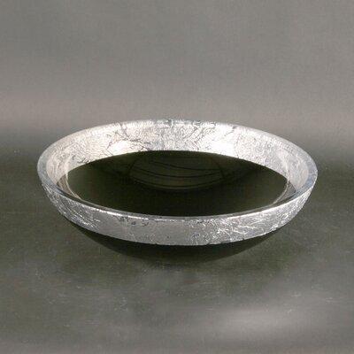 Atelier Flare Teck44 Circular Vessel Bathroom Sink Sink Finish: Black/Silver