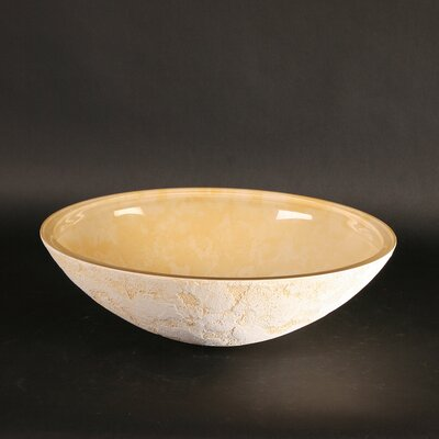 Atelier Luna Dual Textured Oval Vessel Bathroom Sink Sink Finish: Yellow