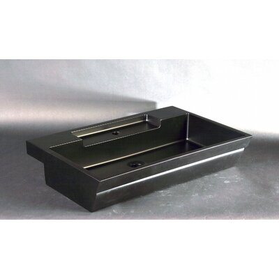 Vetro Freddo Rectangular Vessel Bathroom Sink