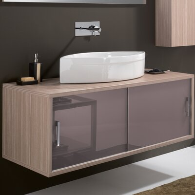 Giva Maple Contemporary Wall Mount Modern 51 Single Bathroom Vanity