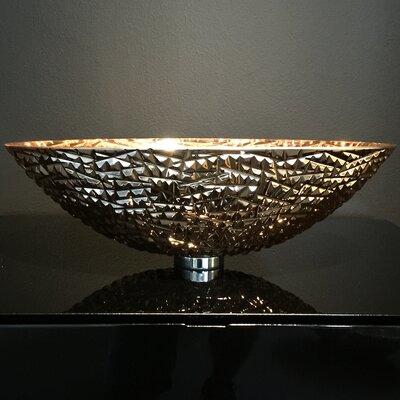 De Medici Ice Crystal Oval Vessel Bathroom Sink Sink Finish: Rose Gold
