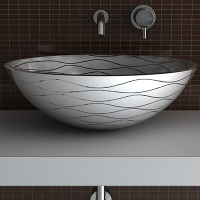 Vetro Freddo Glass Circular Vessel Bathroom Sink Sink Finish: White