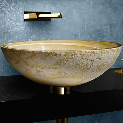 Atelier Luna Dual Textured Circular Vessel Bathroom Sink Sink Finish: Yellow