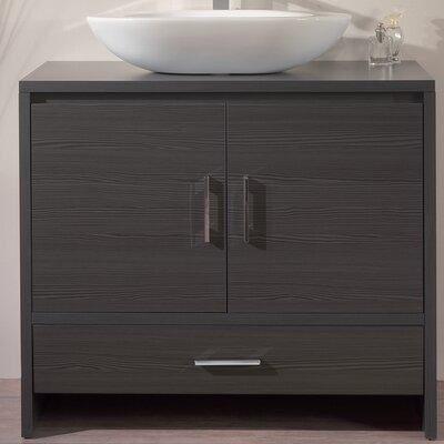 Giva Ultra Luxury Veneered Wenge Modern 36 Single Bathroom Vanity