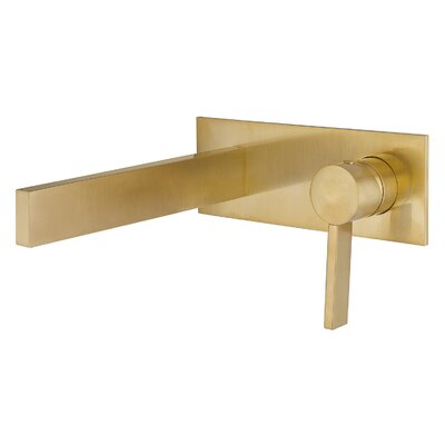 Caso Wall Mount Single Handle Bathroom Faucet Finish: Brushed Gold
