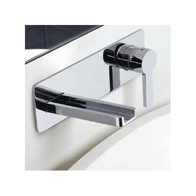 Modern Wall Mount Single Handle Bathroom Faucet Finish: Chrome