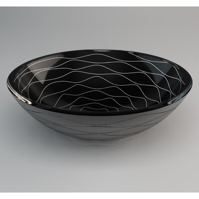 Vetro Freddo Glass Circular Vessel Bathroom Sink Sink Finish: Black