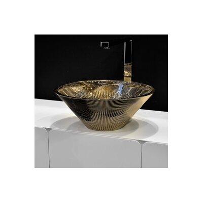 Tekno Luxury Circular Vessel Bathroom Sink Sink Finish: Metal Platinum