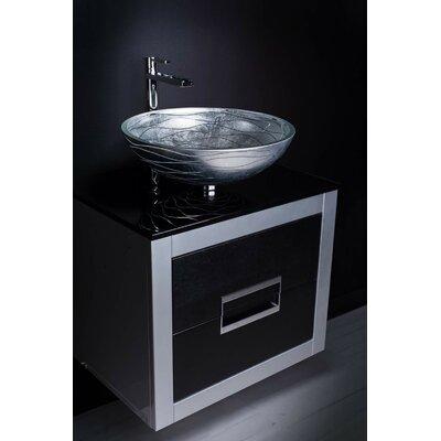 Danya 24  Single Bathroom Vanity Base Finish: Silver
