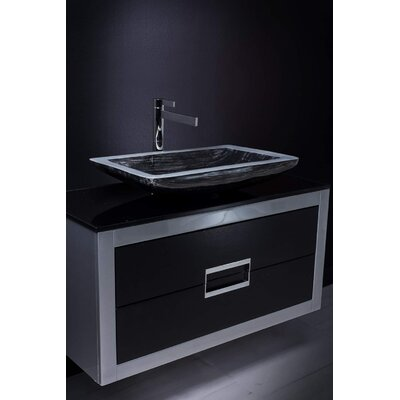 Danya 40 SIngle Bathroom Vanity Base Finish: Silver