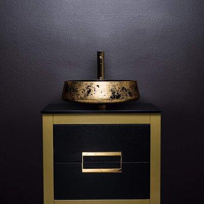 Danya 24  Single Bathroom Vanity Base Finish: Gold