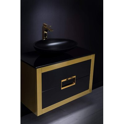 Danya 32 Bathroom Vanity Base Finish: Gold