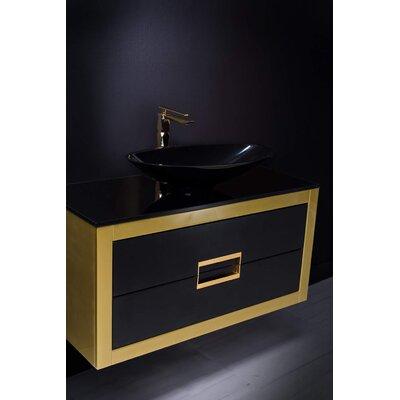 Danya 40 SIngle Bathroom Vanity Base Finish: Gold