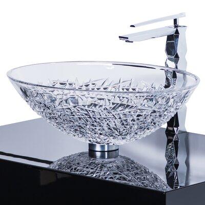 De Medici Oval Vessel Bathroom Sink Sink Finish: Transparent