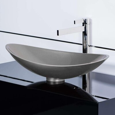 Infinity Oval Vessel Bathroom Sink Sink Finish: Starlight Gray