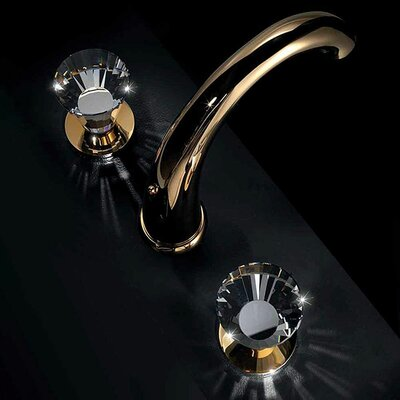 Artik 3 Hole Luxury Double Handle Widespread Bathroom Faucet Finish: Polished Gold