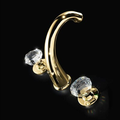 Rock 3 Hole Polished Crystal Widespread Bathroom Faucet Finish: Polished Gold