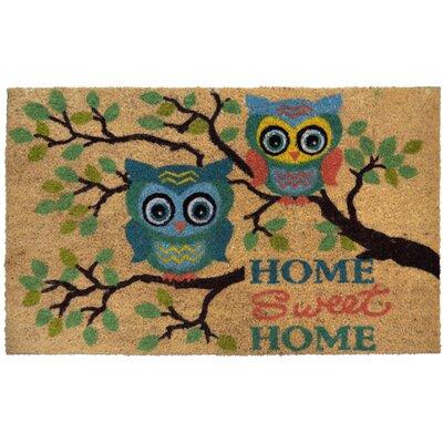 Angelica Home Sweet Home Owls Doormat Rug Size: 1'10