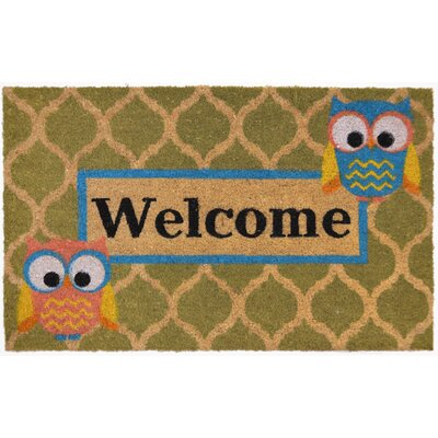 Angelica Welcome Who Doormat Rug Size: Rectangle 16 x 24