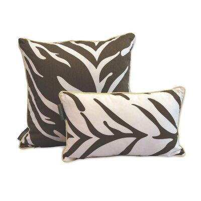 Decorative Reversible Cotton Throw Pillow Size: 20 H x 20 W x 3.5 D, Color: Brown