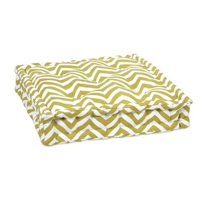Liana Cotton Floor Pillow Color: Green