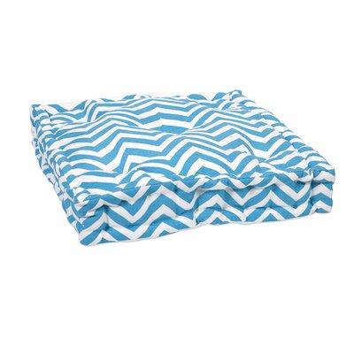Liana Cotton Floor Pillow Color: Blue
