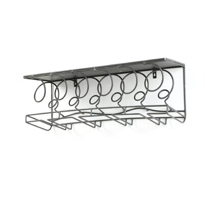 Douglass 6 Bottle Wall Mounted Wine Rack