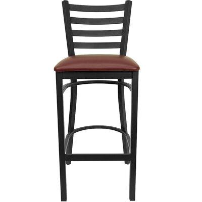 Diana 29 Bar Stool Upholstery: Burgundy Vinyl