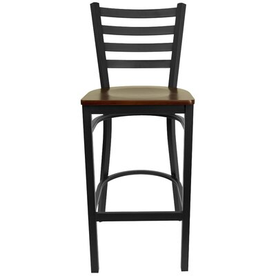 Diana Bar Stool Upholstery: Mahogany Wood