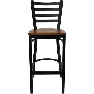 Diana 29 Bar Stool Upholstery: Cherry Wood
