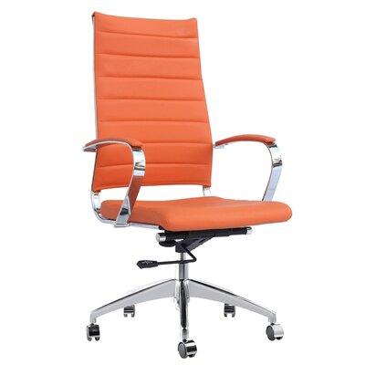 Moore Desk Chair Upholstery: Orange