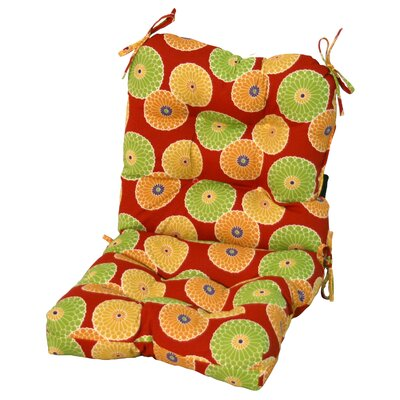 Latitude Run Outdoor Lounge Chair Cushion Fabric: Carnival Stripe