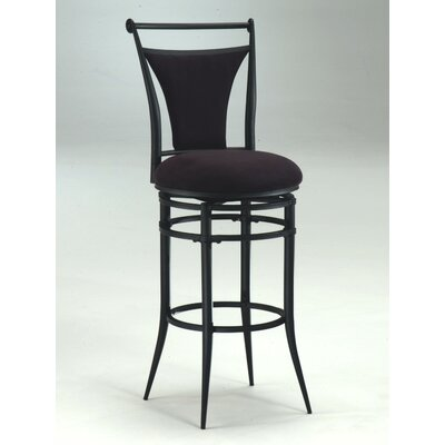 Ashley 26 Swivel Bar Stool Upholstery: Black