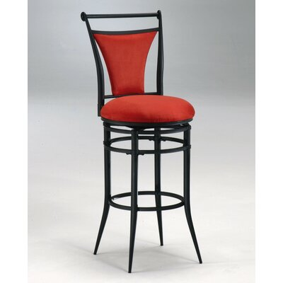 Ashley 26 Swivel Bar Stool Upholstery: Flame