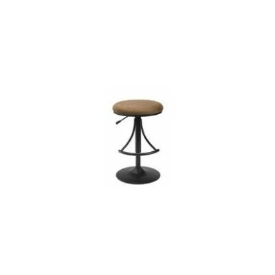 Elon Adjustable Height Swivel Bar Stool Upholstery: Brown