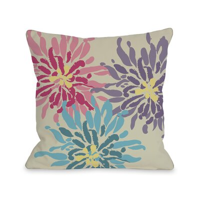Vickey Floral Throw Pillow Size: 18 H x 18 W, Color: Purple Pink Blue