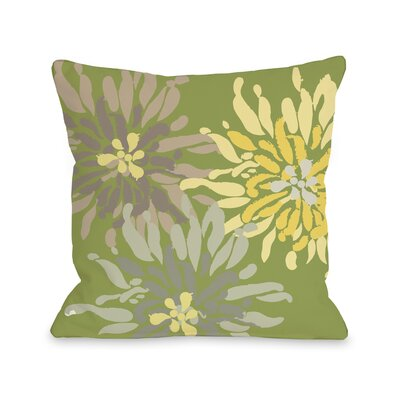 Vickey Floral Throw Pillow Size: 26 H x 26 W, Color: Green Naturals