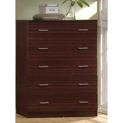 Jamison 5 Drawer Jumbo Chest Color: Mahogany
