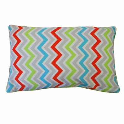 Barbara Zig Zag Cotton Lumbar Pillow Size: 12 x 20, Color: Multi
