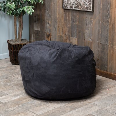 Bean Bag Chair Color: Black