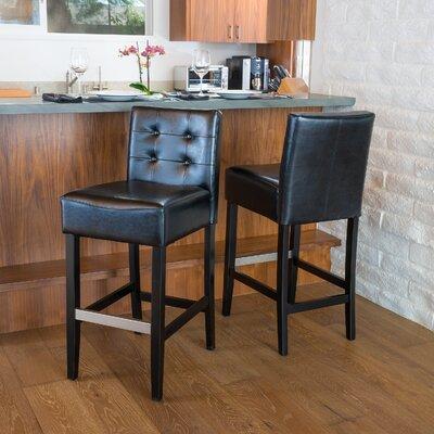 30 Bar Stool Upholstery: Black