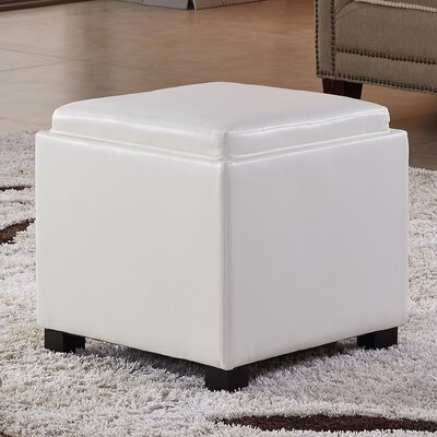 Storage Ottoman Color: Creamy White