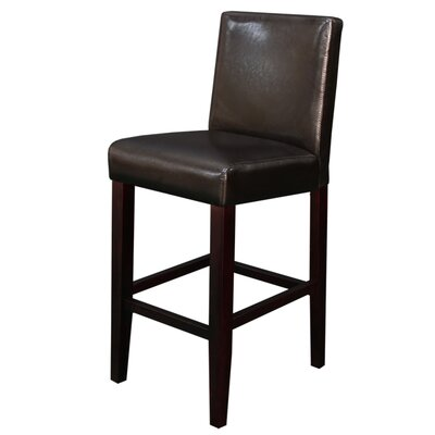 Swarthout 24 Counter Stool Upholstery: Dark Brown Faux Leather