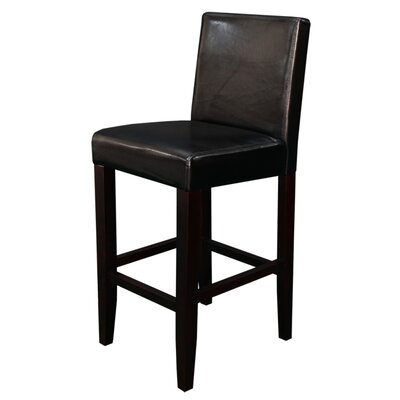 Aubrey 24 Counter Stool Upholstery: Black Faux Leather