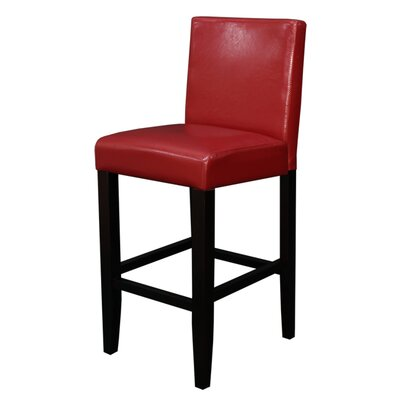 Swarthout 24 Counter Stool Upholstery: Red Faux Leather