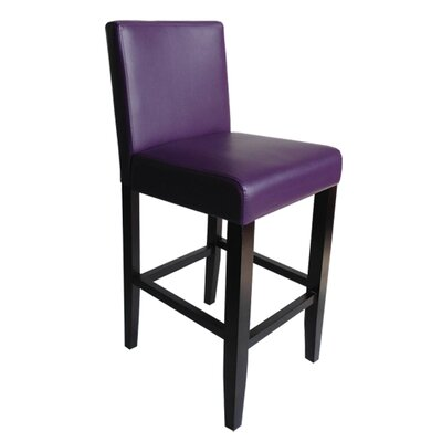 Swarthout 24 Counter Stool Upholstery: Boysenberry Faux Leather
