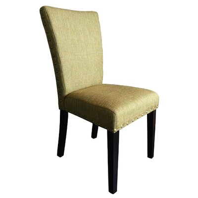 Zoey Upholstered Parsons Chair Upholstery: Basil Linen